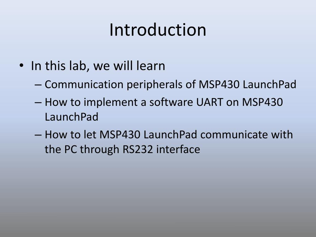 PPT - LAB 6: Serial Communication PowerPoint Presentation - ID:1580741