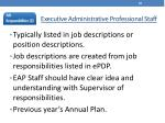 executive administrative professional staff