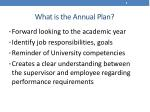 what is the annual plan
