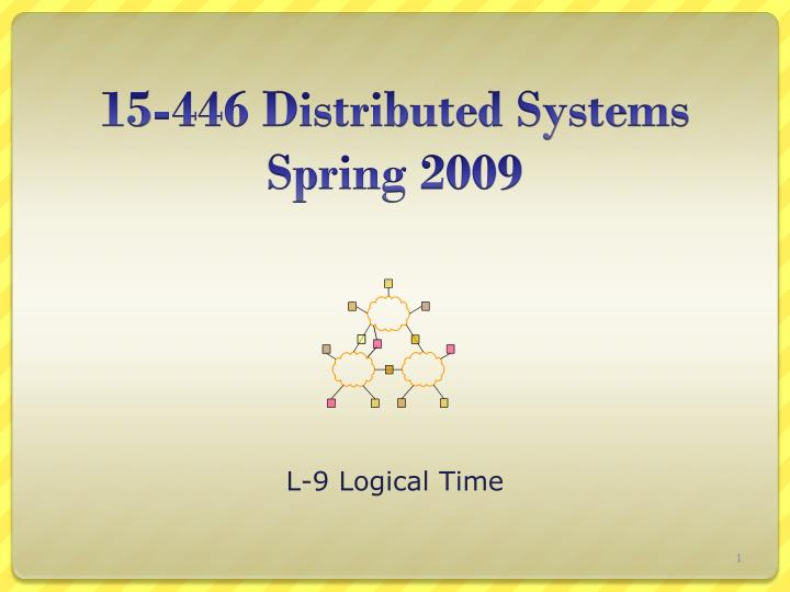 15 446 distributed systems spring 2009 n.