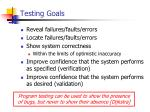 testing goals