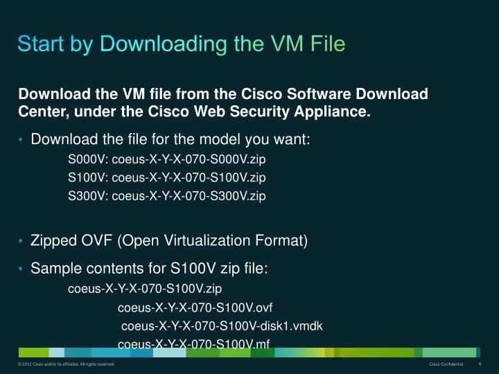 Start by Downloading the VM File