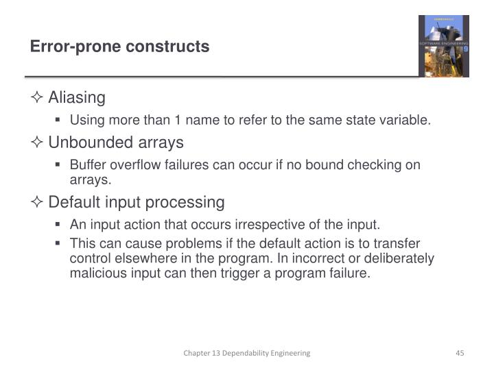 Error-prone constructs