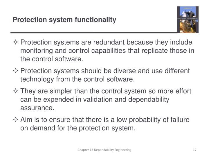 Protection system functionality