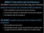armv7 instruction set architecture