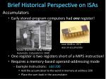 brief historical perspective on isas