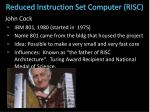 reduced instruction set computer risc