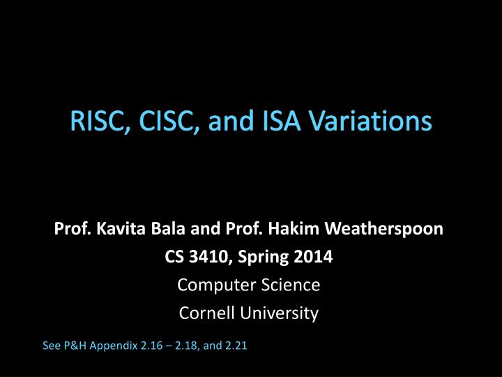 risc cisc and isa variations