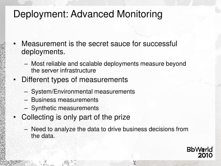 Deployment: Advanced Monitoring