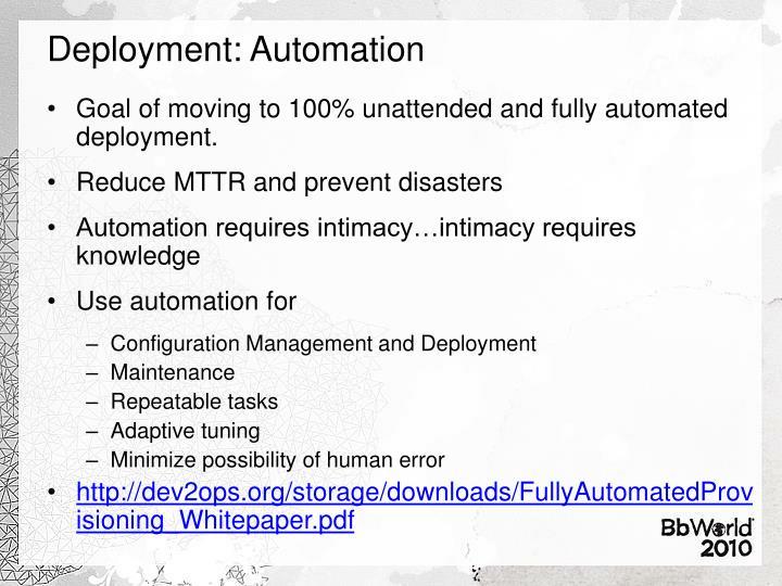 Deployment: Automation