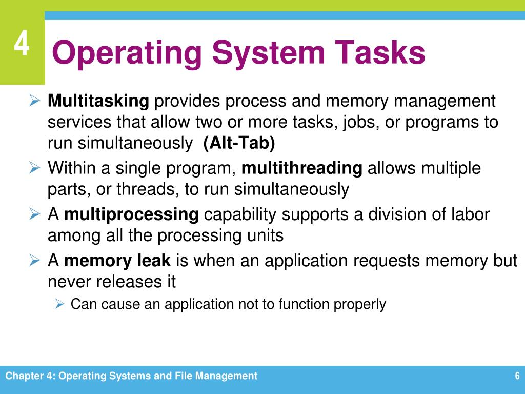 PPT - Chapter 4 Operating Systems and File Management PowerPoint