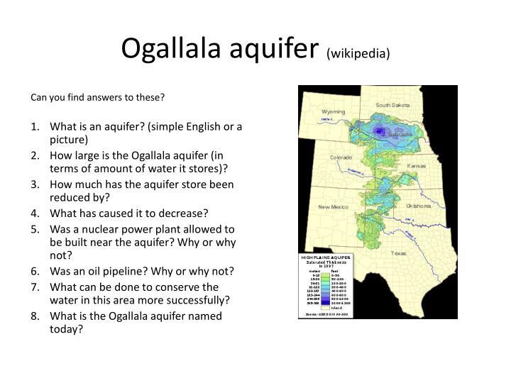 Ogallala aquifer wikipedia