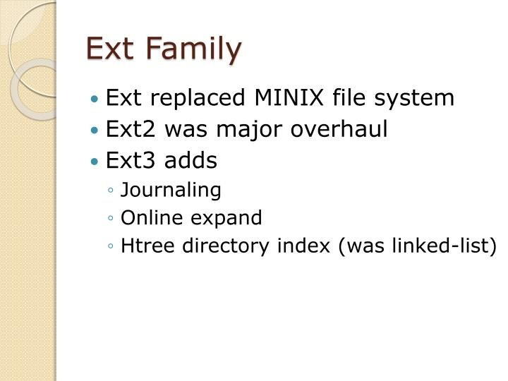 Ext Family