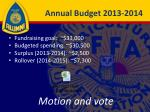 annual budget 2013 2014