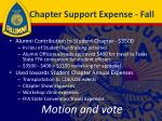 chapter support expense fall