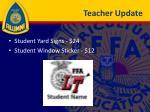 teacher update