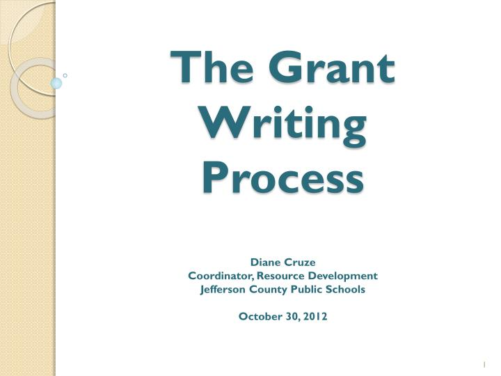 the grant writing process n.