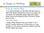 its sugar or nothing