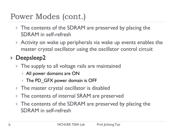 Power Modes (cont.)