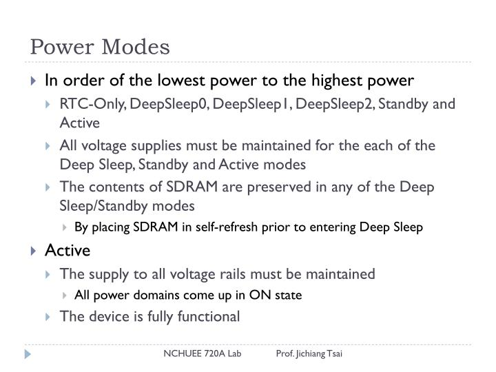 Power Modes