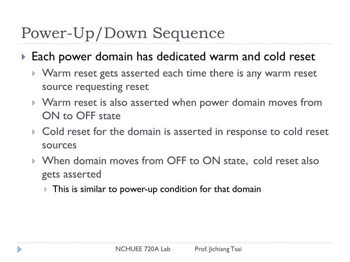 Power-Up/Down Sequence