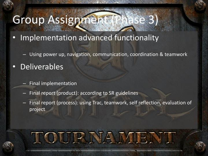 Group Assignment (Phase 3)