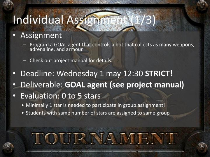 Individual Assignment (1/3)
