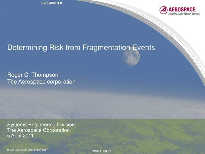 determining risk from fragmentation events n.