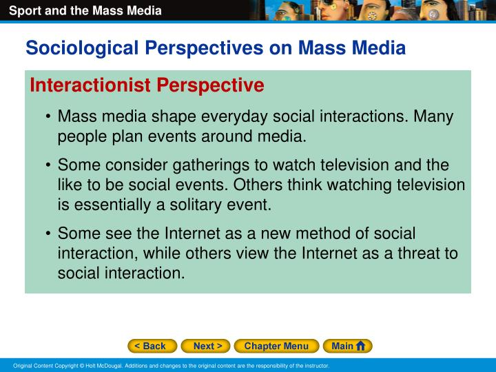Sociological Perspectives on Mass Media
