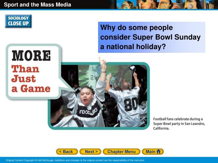 Why do some people consider Super Bowl Sunday a national holiday?
