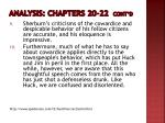 analysis chapters 20 22 cont d1