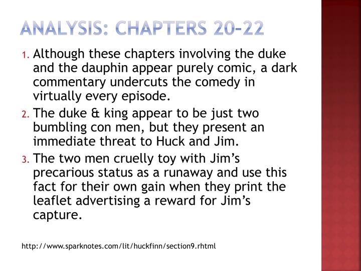Analysis: Chapters 20–22