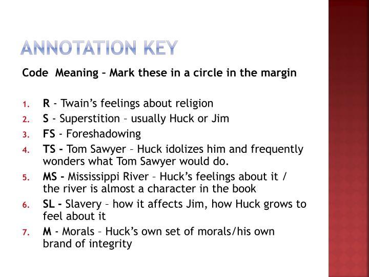 Annotation key