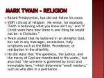 mark twain religion