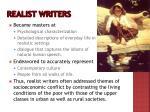 realist writers