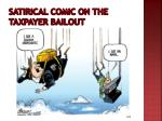 satirical comic on the taxpayer bailout