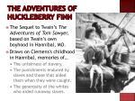the adventures of huckleberry finn1
