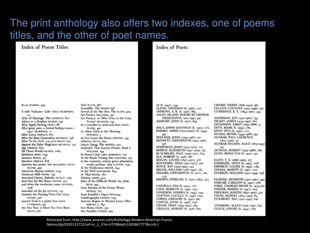 PPT - Modern American Poetry PowerPoint Presentation - ID