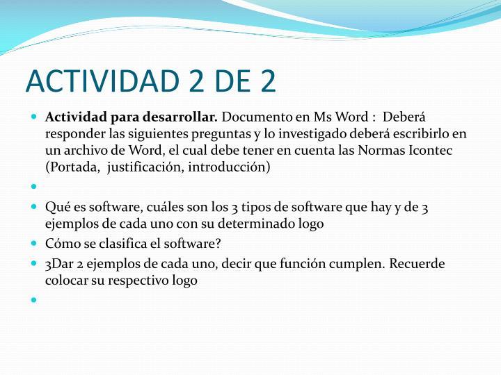 ACTIVIDAD 2 DE 2