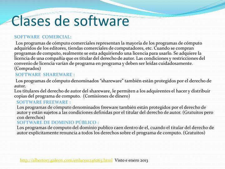 Clases de software