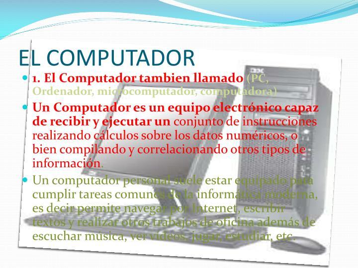 EL COMPUTADOR