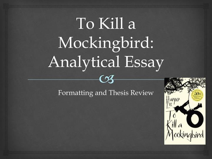 to kill a mocking bird analysis