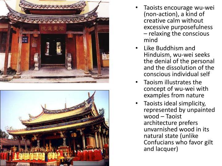 Taoists encourage