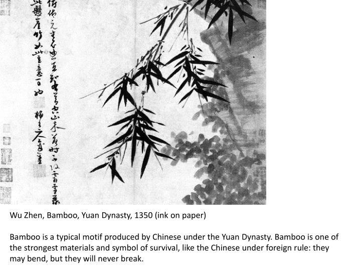 Wu Zhen, Bamboo, Yuan Dynasty, 1350 (ink on paper)