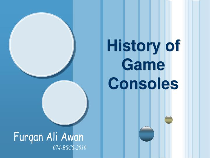 history of game consoles n.