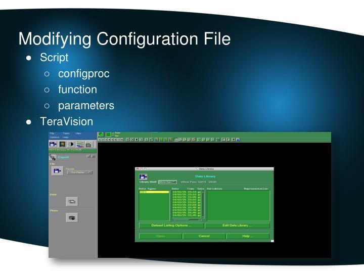 Modifying Configuration File