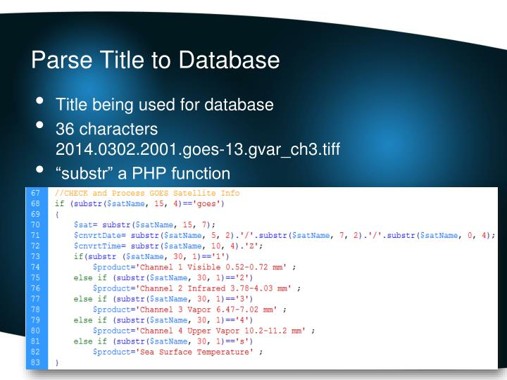 Parse Title to Database