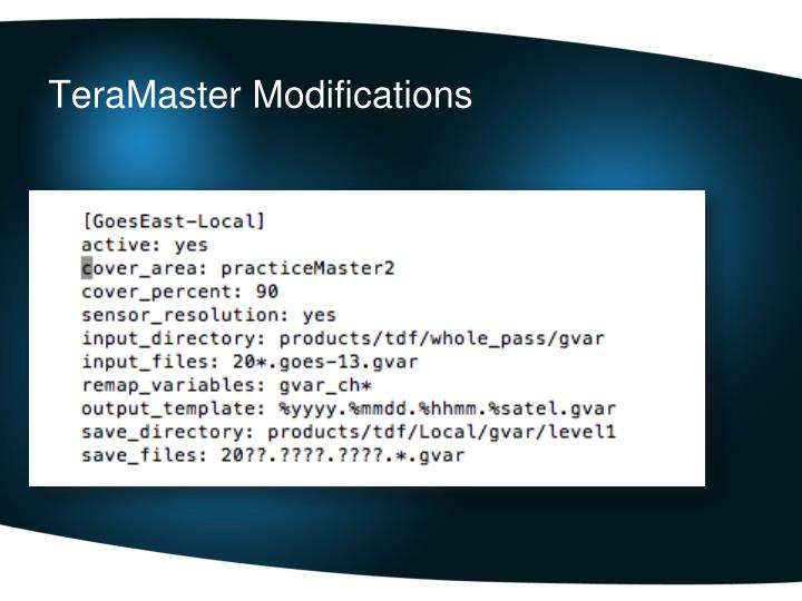 TeraMaster Modifications
