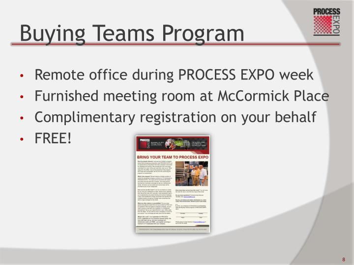 Buying Teams Program
