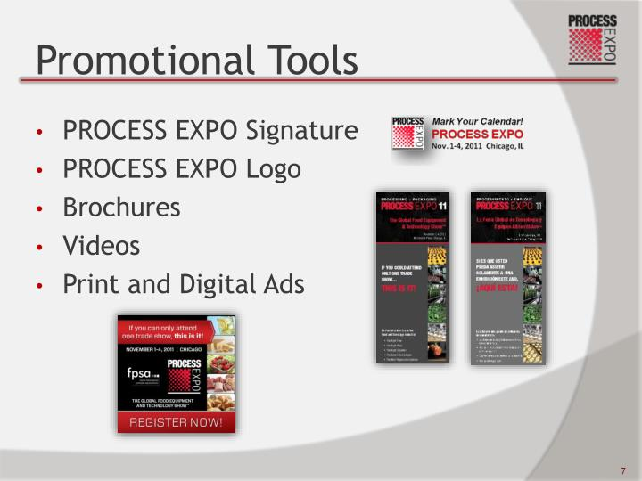 Promotional Tools